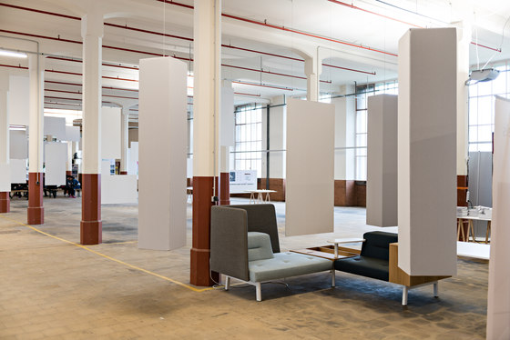 Abso acoustic totems by Texaa® | Sound absorbing freestanding systems