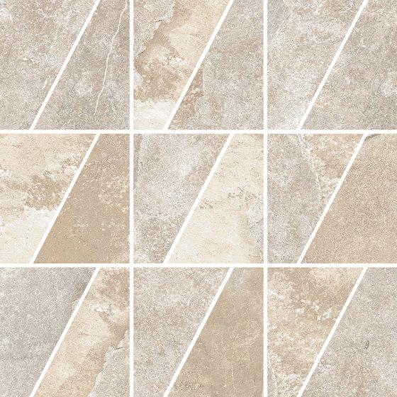 Ardesie Beige | Mosaico Trapezio von Rondine | Keramik Mosaike