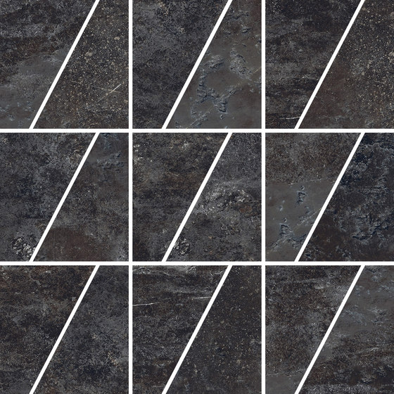 Ardesie Dark | Mosaico Trapezio de Rondine | Mosaïques céramique