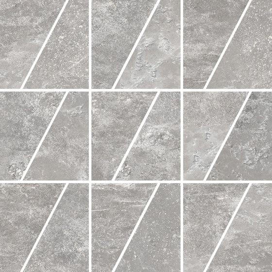 Ardesie Grey | Mosaico Trapezio de Rondine | Mosaïques céramique
