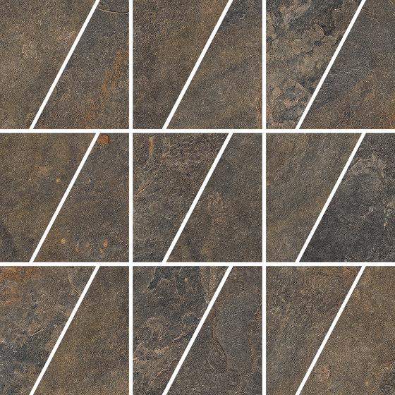Ardesie Multicolor | Mosaico Trapezio de Rondine | Mosaïques céramique