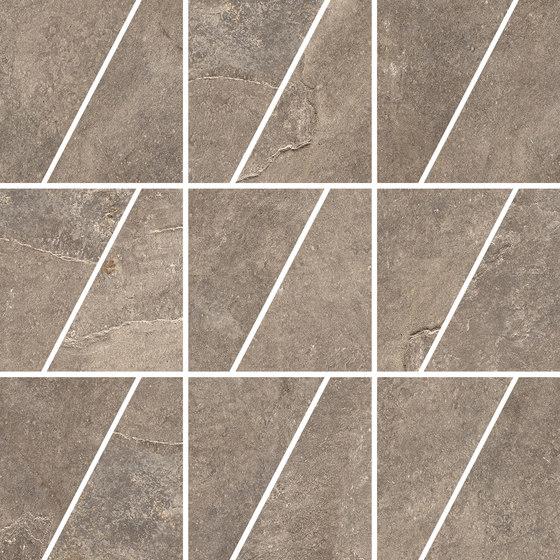 Ardesie Taupe | Mosaico Trapezio de Rondine | Mosaïques céramique
