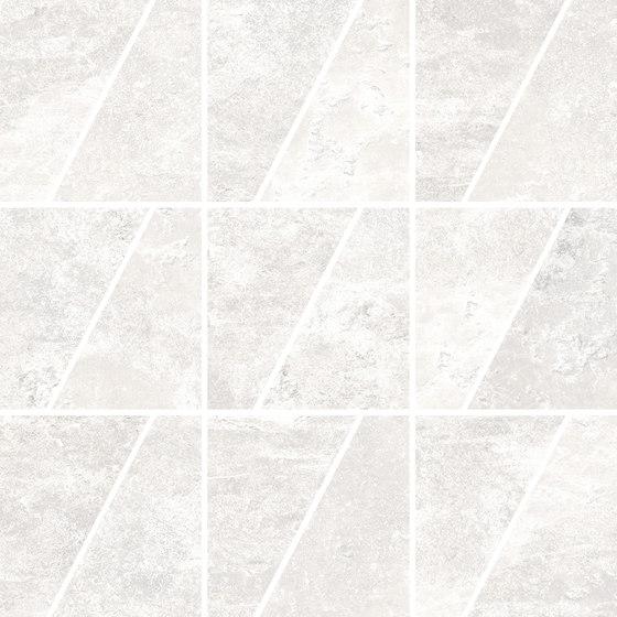 Ardesie White | Mosaico Trapezio de Rondine | Mosaicos de cerámica