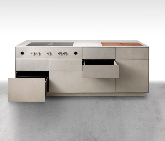 dade MILANO concrete kitchen by Dade Design AG concrete works Beton | Concrete panels