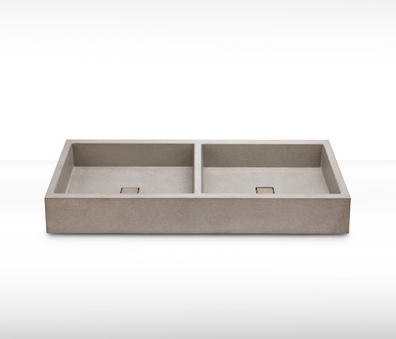dade ELEMENT 120 double concrete sink by Dade Design AG concrete works Beton | Wash basins
