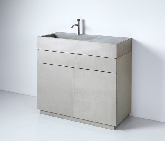 dade ELINA 90 washstand furniture by Dade Design AG concrete works Beton | Wash basins