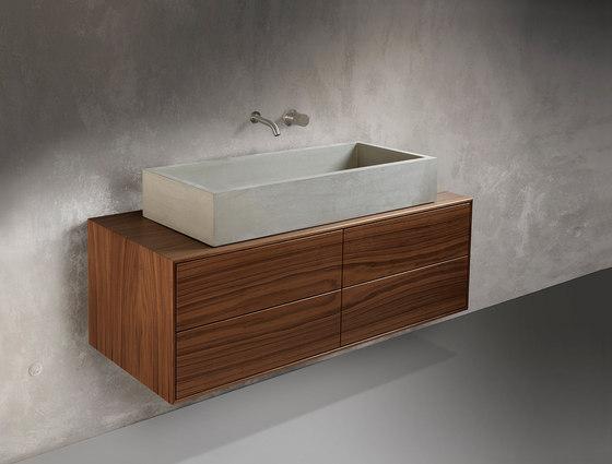 daed SALONE washstand furniture by Dade Design AG concrete works Beton | Wash basins