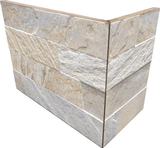 Cubics Beige | Angolo Esterno Incollato by Rondine | Ceramic tiles