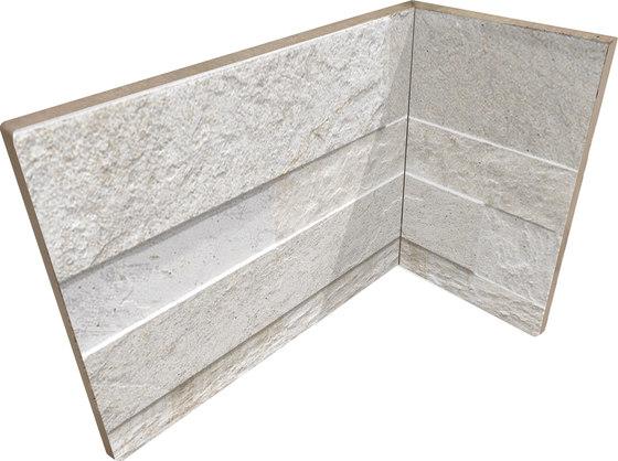Cubics White | Angolo Interno Incollato by Rondine | Ceramic tiles