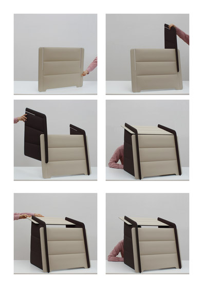 ECObooth | Acoustic panel for desks by Slalom | Table accessories