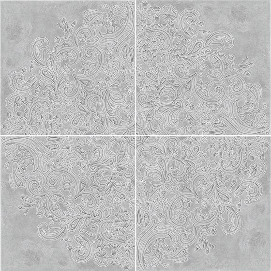 Elegance Volterra Grigio | Rosone Grey Levigato by Rondine | Ceramic tiles