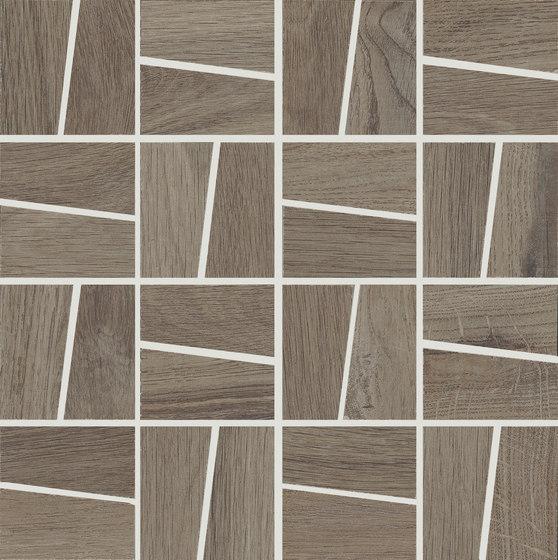 Ever Brown | Trapezi Mosaico di Rondine | Mosaici ceramica