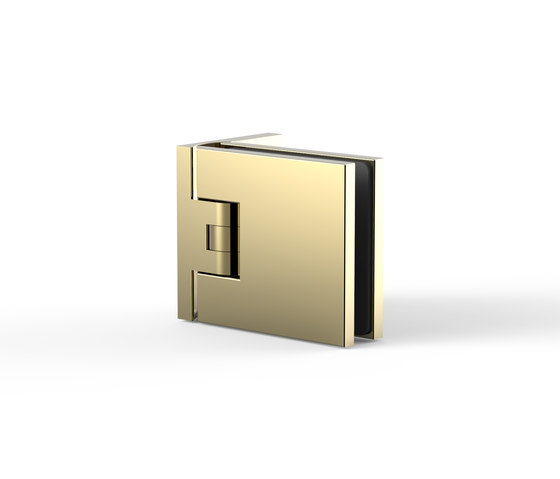 Flamea+ Gold Edition by Pauli | Hinges for glass doors