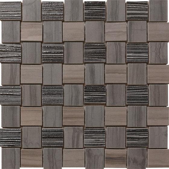 Georgette Dark Taupe | Weave von Rondine | Keramik Mosaike