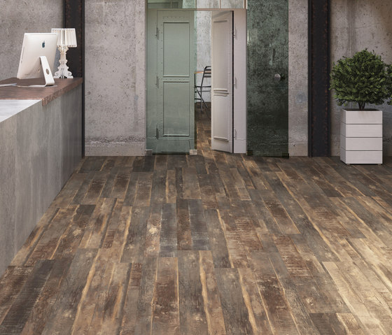 Creation Exclusive toasted wood roadster by Gerflor USA | Synthetic tiles