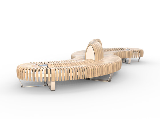 Nova C Double bench by Green Furniture Concept | Benches