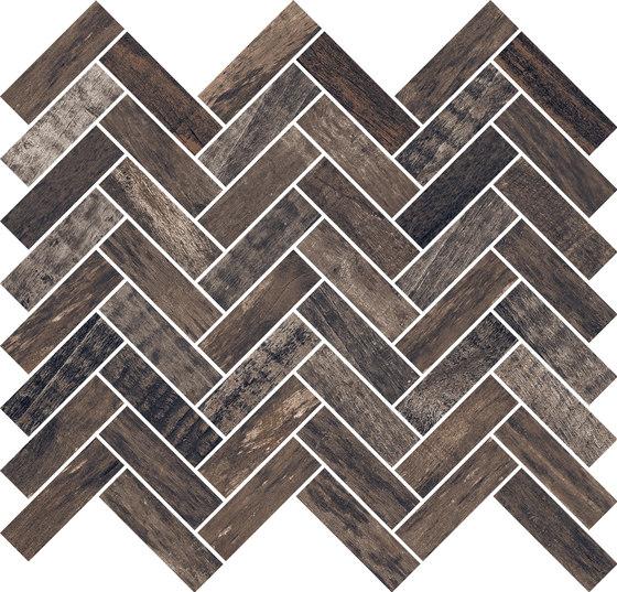 Inwood Black | Mosaico Spina di Rondine | Mosaici ceramica