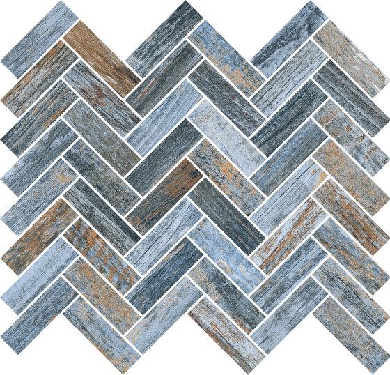 Inwood Blue | Mosaico Spina by Rondine | Ceramic mosaics