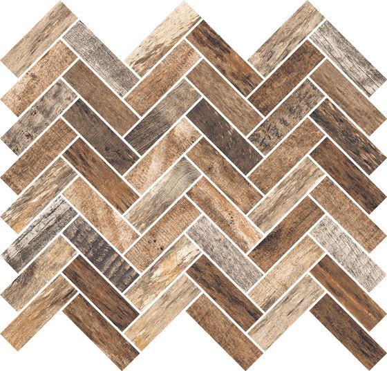 Inwood Caramel | Mosaico Spina by Rondine | Ceramic mosaics