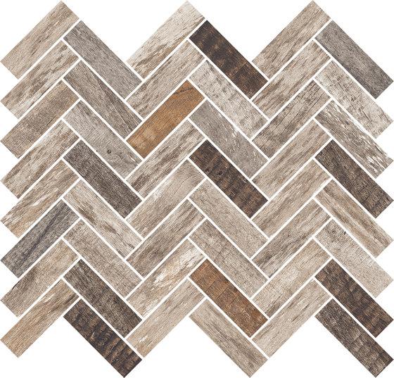 Inwood Dark Grey | Mosaico Spina de Rondine | Mosaicos de cerámica