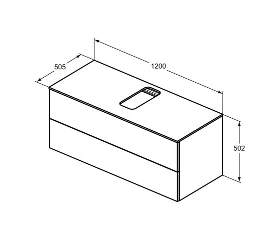 Adapto Waschtisch-Unterschrank 1200 mm, 2 Auszüge by Ideal Standard | Vanity units