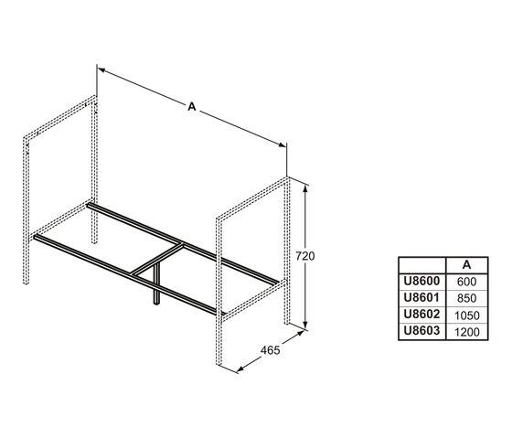 Adapto Trägerrahmen 1050 mm by Ideal Standard | Vanity units