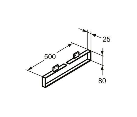 "Adapto Handtuchhalter ""Cubo"" 500 mm by Ideal Standard   Towel rails"