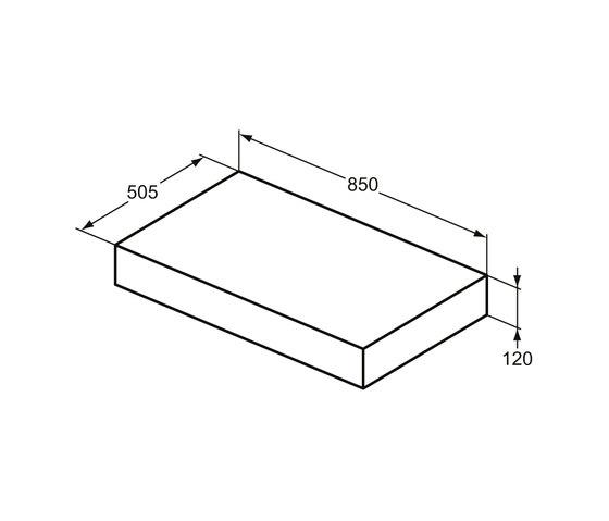 Adapto Konsole 850 mm by Ideal Standard | Wood panels