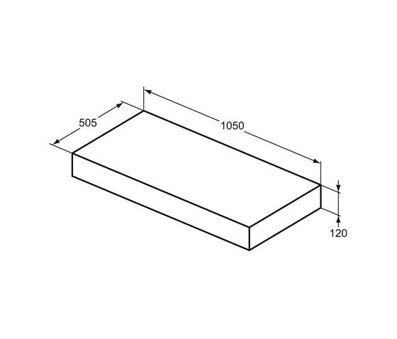 Adapto Konsole 1050 mm by Ideal Standard | Countertops