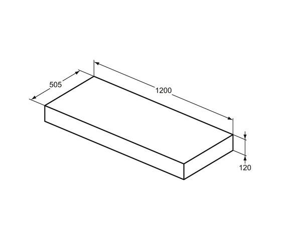Adapto Konsole 1200 mm by Ideal Standard | Wood panels