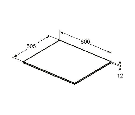 Adapto Holzplatte 600 mm zu Waschtisch-Unterschrank / Standkonsole by Ideal Standard | Bathroom furniture