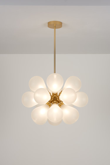 Cintola Maxi Pendant satin gold by Tom Kirk Lighting | Suspended lights