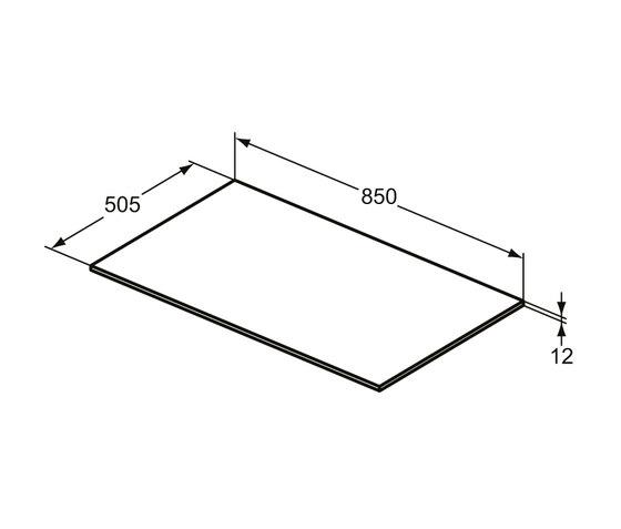 Adapto Holzplatte 850 mm zu / Standkonsole by Ideal Standard | Bathroom furniture