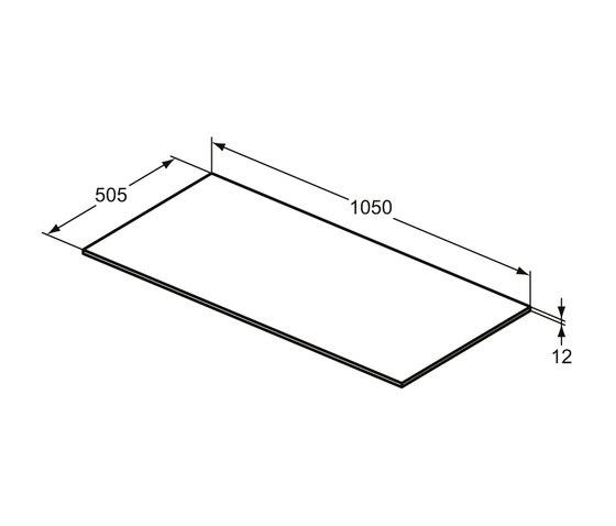Adapto Holzplatte 1050 mm zu Waschtisch-Unterschrank / Standkonsole by Ideal Standard | Bathroom furniture