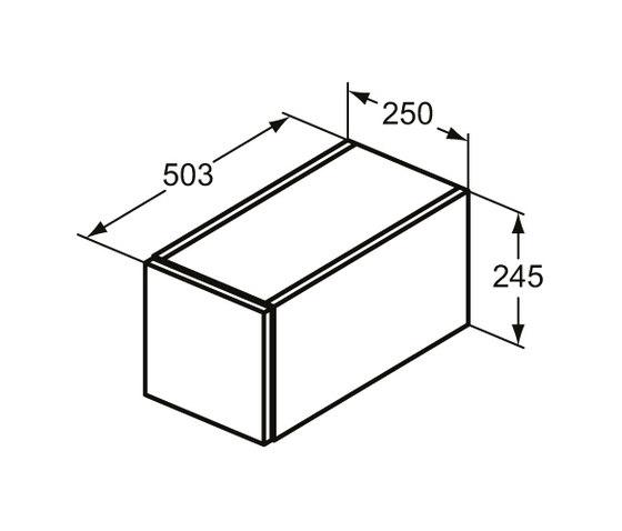 Adapto Konsole-Unterschrank 250 mm, 1 Auszug by Ideal Standard | Vanity units