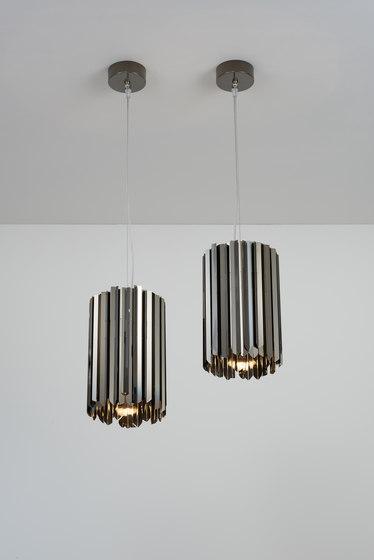 Facet Pendant polished black nickel by Tom Kirk Lighting | Suspended lights