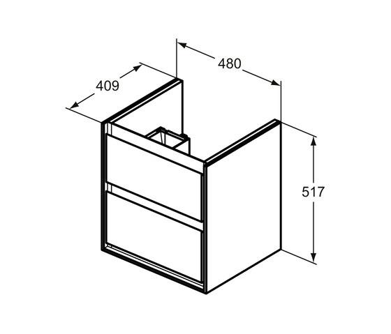 Connect Air Waschtisch-Unterschrank Cube Air 485 mm, 2 Auszüge by Ideal Standard | Vanity units