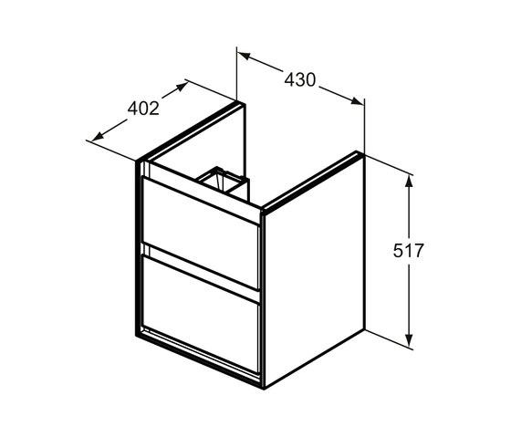 Connect Air Waschtisch-Unterschrank Cube Air 435 mm, 2 Auszüge by Ideal Standard | Vanity units