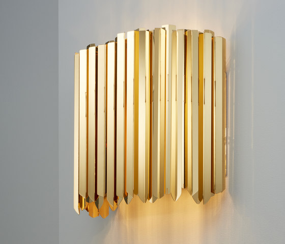 Facet Wall Light polished gold by Tom Kirk Lighting | Wall lights