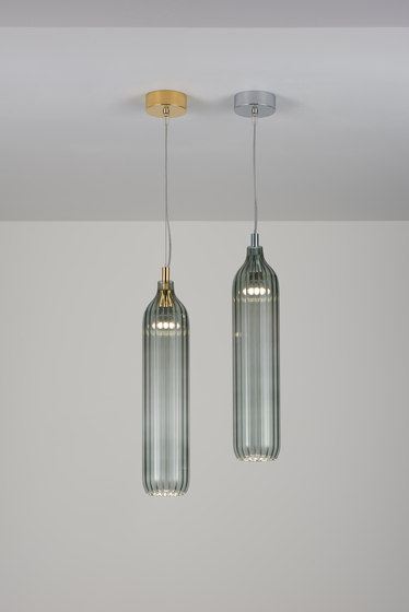 Flute Pendant smoke by Tom Kirk Lighting | Suspended lights