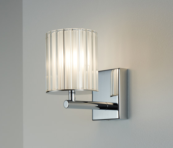 Flute Wall Light chrome by Tom Kirk Lighting | Wall lights
