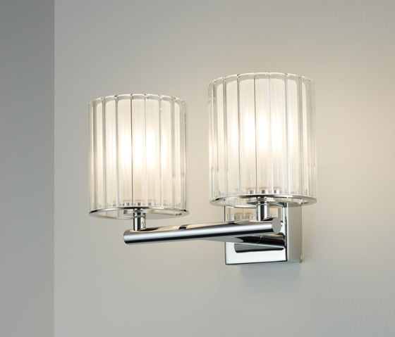 Flute Wall Light Double chrome by Tom Kirk Lighting | General lighting