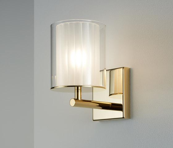 Flute Wall Light XL gold by Tom Kirk Lighting | Wall lights