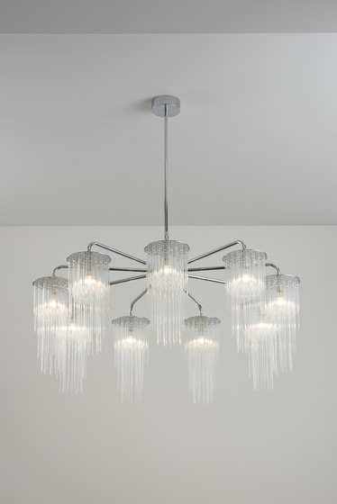 GS Chandelier polished chrome de Tom Kirk Lighting | Chandeliers