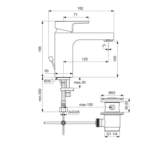 Edge Waschtischarmatur by Ideal Standard   Wash basin taps