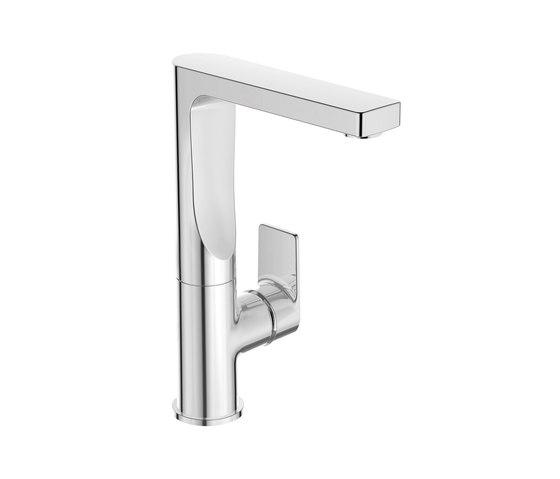 Edge Waschtischarmatur mit hohem schwenkbarem Auslauf ohne Ablaufgarnitur by Ideal Standard | Wash basin taps