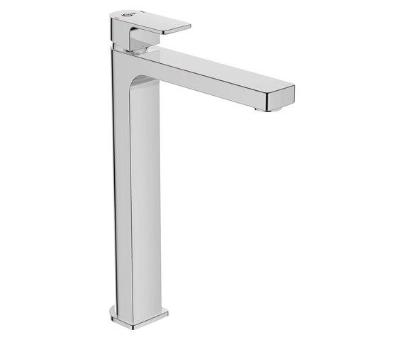 Edge Waschtischarmatur mit verlängertem Sockel ohne Ablaufgarnitur by Ideal Standard   Wash-basin taps