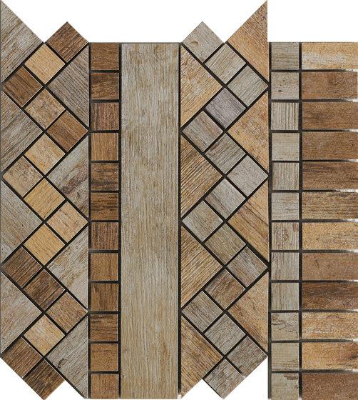 Metalwood Beige | Fascia de Rondine | Mosaïques céramique
