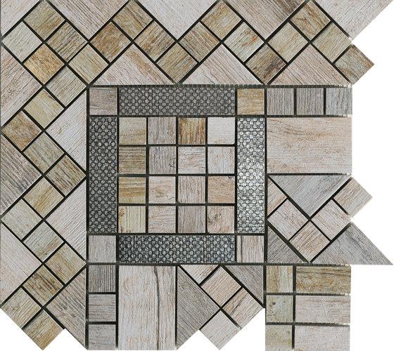 Metalwood Grey | Fascia Angolo de Rondine | Mosaïques céramique