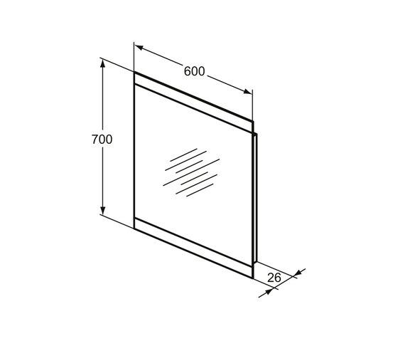 Mirror & Light Spiegel 600 mm mit 2-seitigem Ambientelicht (40,5 W) by Ideal Standard | Wall mirrors